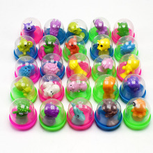 10pcs / lot Nieuwigheid Grappige Mini Strange Suckers Animal surprise egg capsule Ei bal Model Puppets Toy Kids Toys voor kinderen