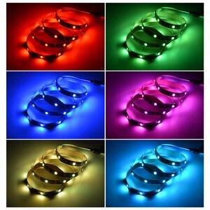 Image 5 - 5V Rgb Usb Led Strip Licht Tape 5050 Tira Led Usb Diode Tape Niet Waterdicht 1M 2M 3M Tv Backlight Bande Verlichting Decoratie Lamp