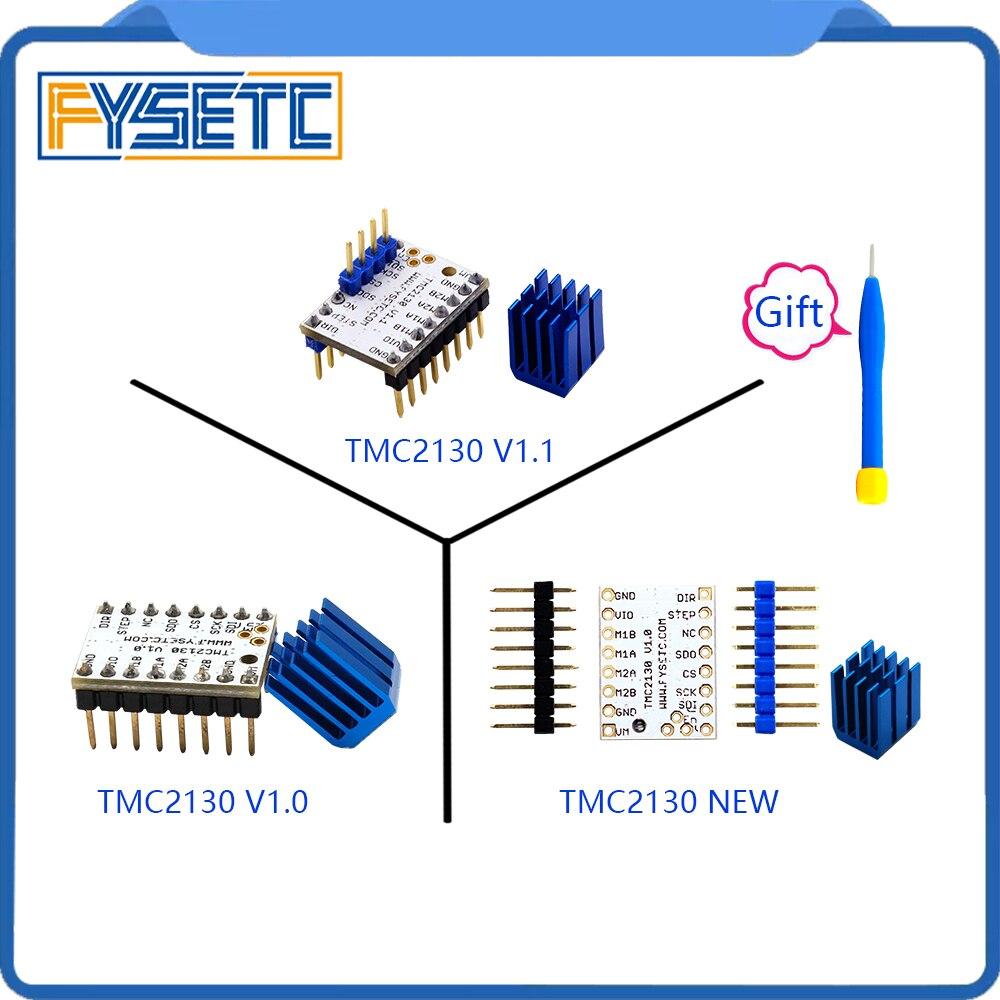 5 unids MKS TMC2130 V1.0/2130 nueva/TMC V1.1 tres tipos Stepstick controlador de Motor paso a paso SPI con disipador de calor Ultra-silencioso excelente
