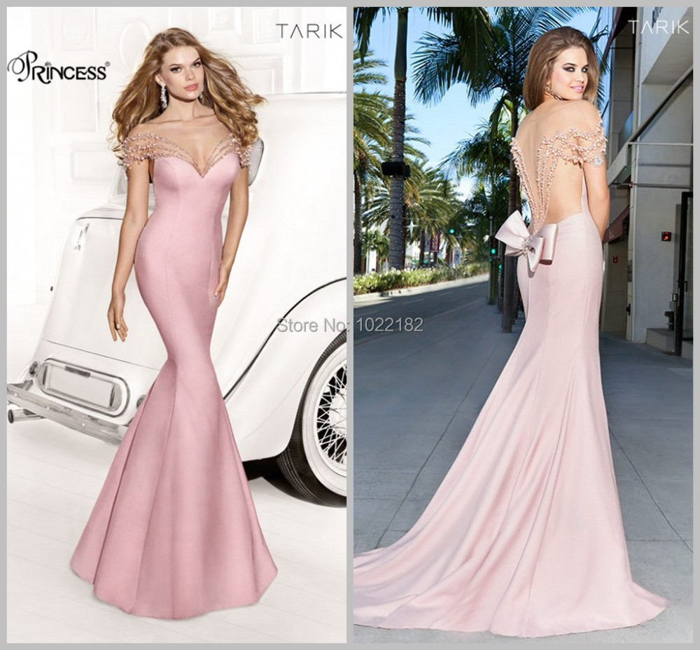 Backless Mermaid Prom Dresses Bow Back Floor Length Women Pageant 2017 In From Weddings Events On Aliexpress Alibaba Group