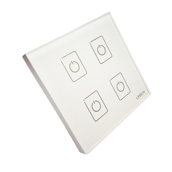 LTECH EDA4 4 Canal Dali Dali Led dimmer Controlador de Led On/Off Interruptor de Parede Touch Panel Dimmer Dali controlador de LED