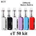Vape Box Mod Electronic Cigarette E Cigarette Kit ECT eT 50 Vaporizer E Hookah Shisha Pen Battery Mod with Vot Atomizer X1054
