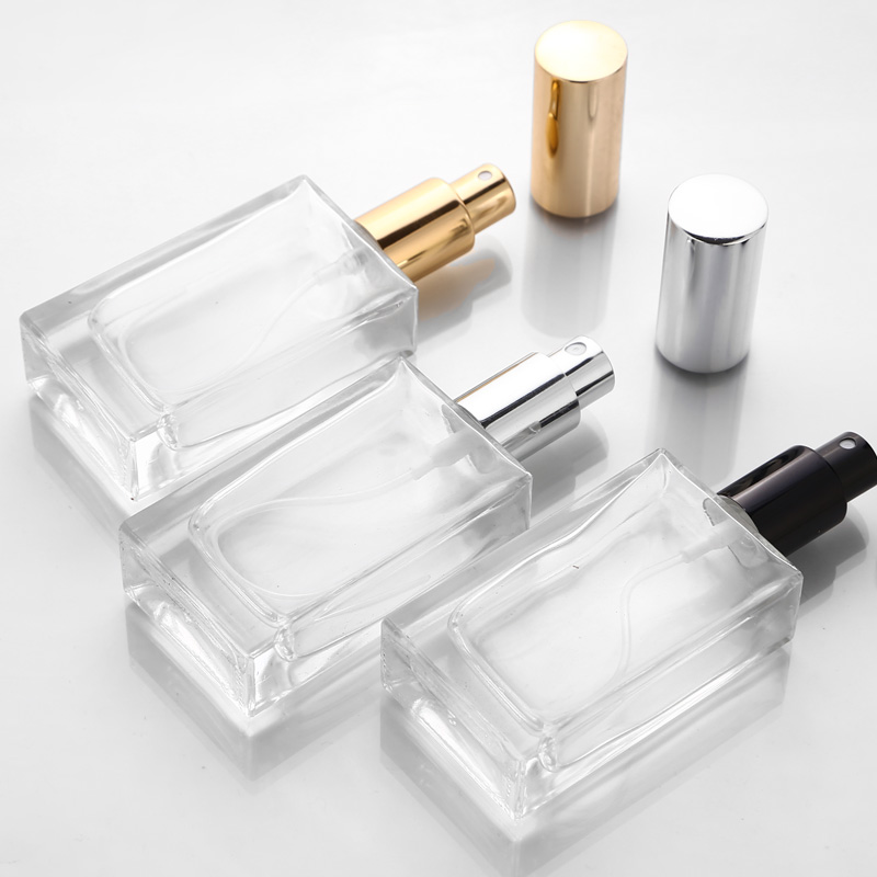 5pcs 15ml 30ml 50ml Transparent Glass Perfume Bottles Empty Spray Atomizer Refillable Bottle Scent Case With Travel  Portable
