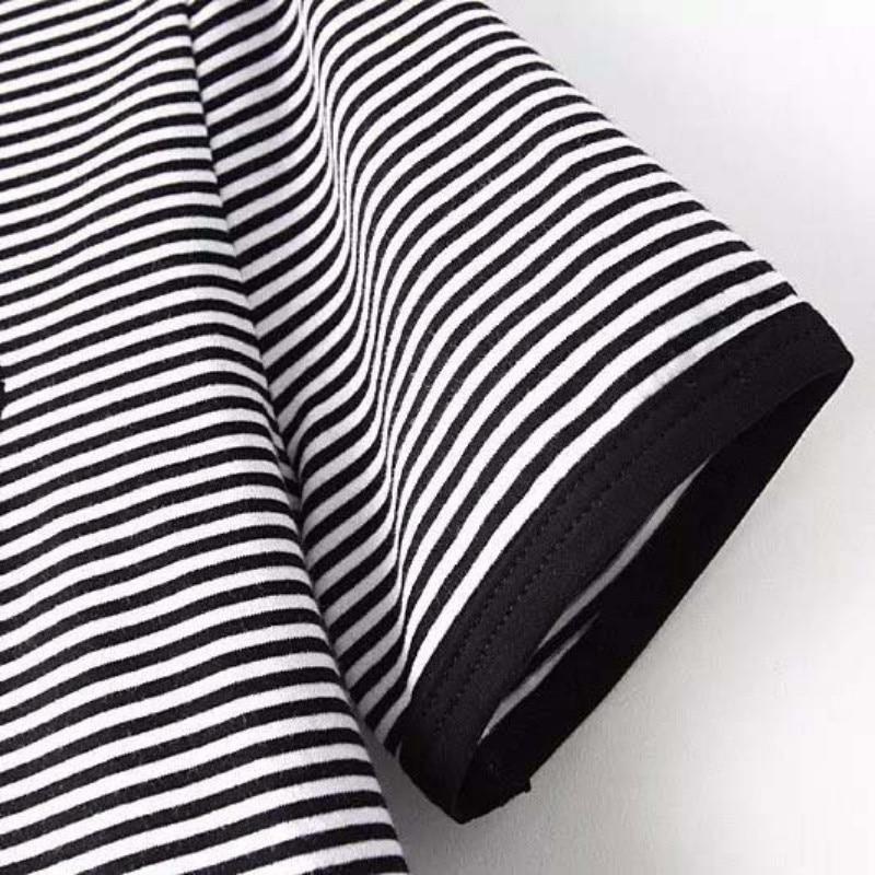 HTB1cQ1DNFXXXXazXpXXq6xXFXXXG - Cute Stripe Short Sleeve Cotton Top Tee Alien Embroidery Tshirts