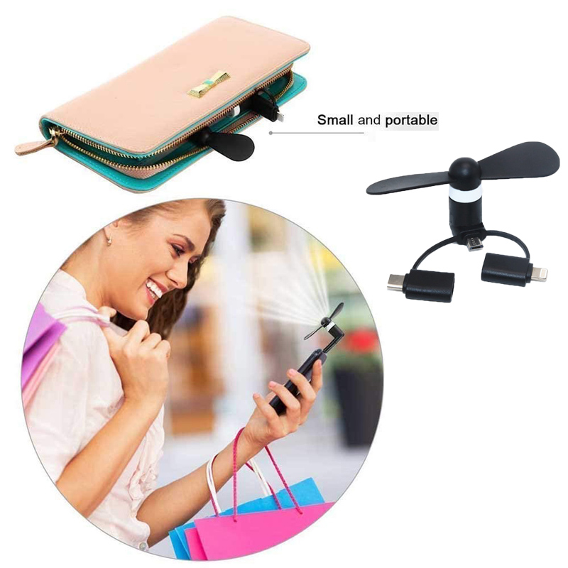 HTB1cQ1DO9zqK1RjSZPcq6zTepXaf BinFul Wholesale Portable Travel Mini USB+Micro Type c USB Fan Gadget for Android smart Phone for iPhone X 8 7 plus 6s 6 Plus 5s