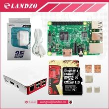 A Raspberry Pi 3 zestaw startowy-pi Model B 3, obiadokolacja/pi 3 case/American standard zasilania/16G karta pamięci/ciepła zlewozmywak