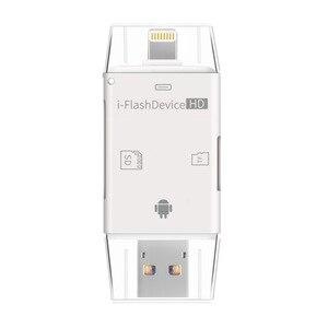 Image 3 - LL تاجر i Flash Drive متعدد بطاقة OTG قارئ HD مايكرو SD و TF ذاكرة USB محوّل قارئ البطاقات لجهاز iPhone 8/Andriod/PC