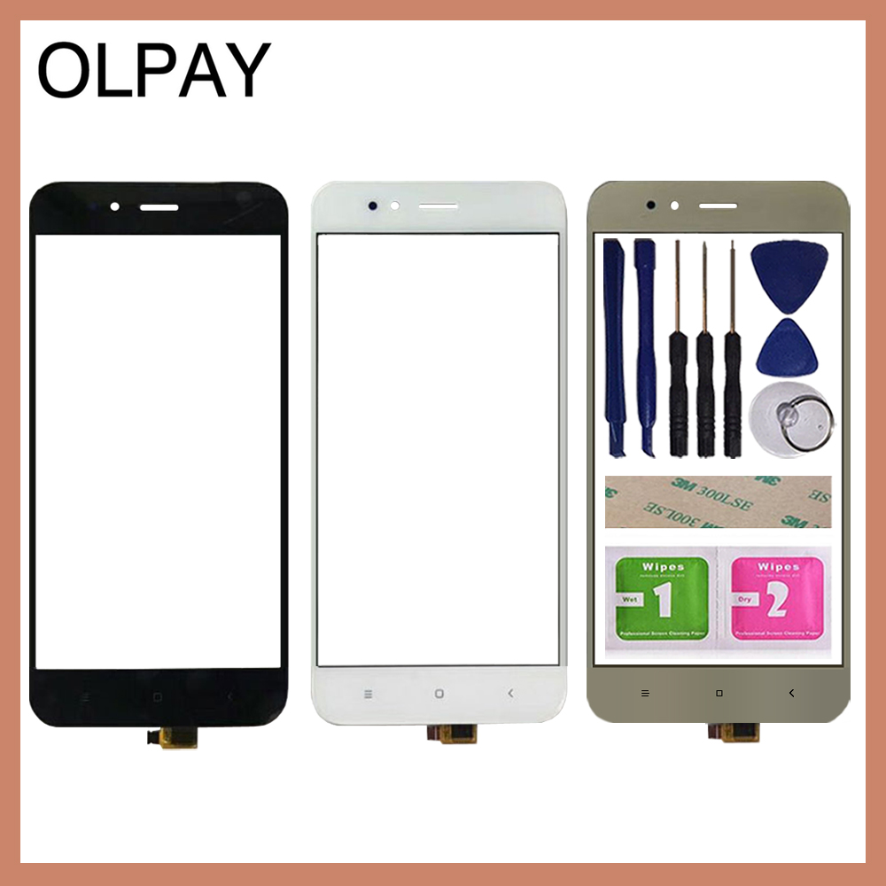 OLPAY 5.5'' Mobile Phone Touch Screen Digitizer For Xiaomi Mi A1 MiA1 MDG2 Touch Glass Sensor Tools Free Adhesive And Wipes