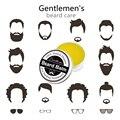 Lanthome prima bálsamo de aceite bigote barba barba grooming cera para el peinado, cera de abejas barba cuidado hidratante suavizante de Caballeros