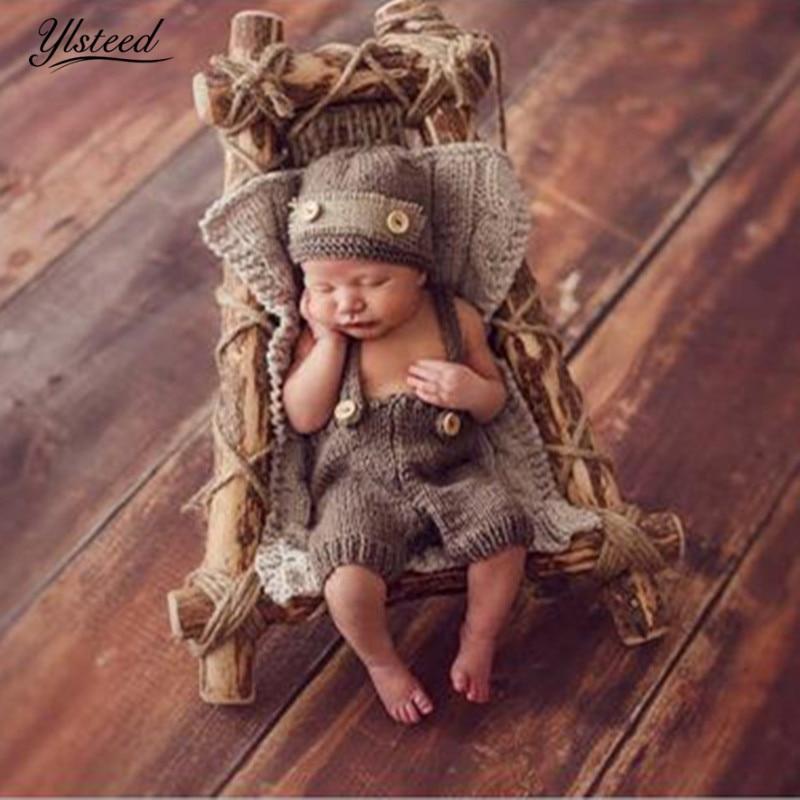 Säuglings Fotografie Outfits Newborn Fotografie Zubehör Babymütze