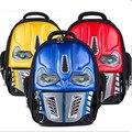 2017 Nueva Personalidad Ojos Se Iluminarán Transformadores Impermeable 3D Estereoscópico Schoolbag Niños Mochila Carga Shiping Libre
