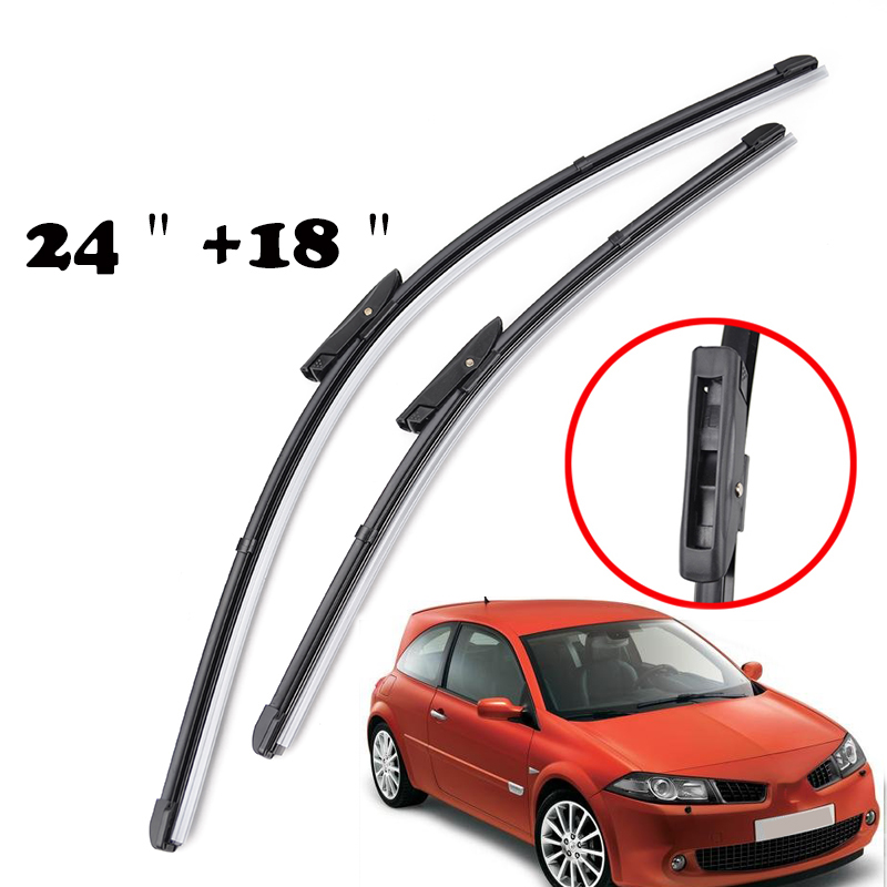 """Renault Megane estate 2006-2009 window wipers 24/'/'18/""""10/"""" front and rear"""