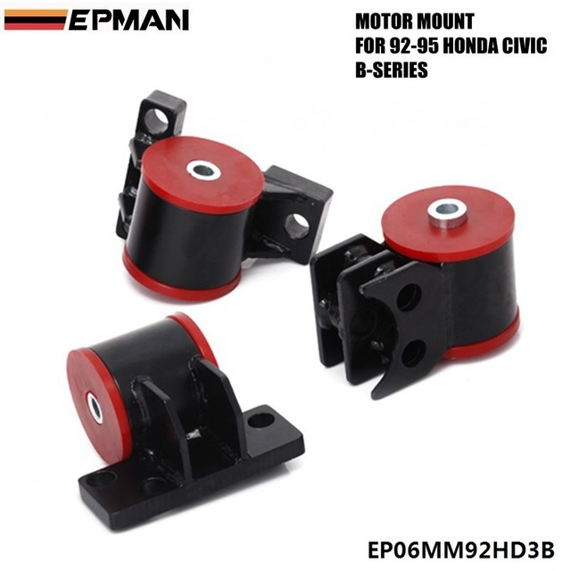 For Honda Civic B Series Del Sol EG ENGINE Motor Mounts B16 B18 LIFETIME  WARRANTY B18C