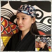 """Кухня головной платок шеф-повара шляпа японская униформа для ресторана суши поварской колпак унисекс кухня работа японская кепка """"суши"""""""