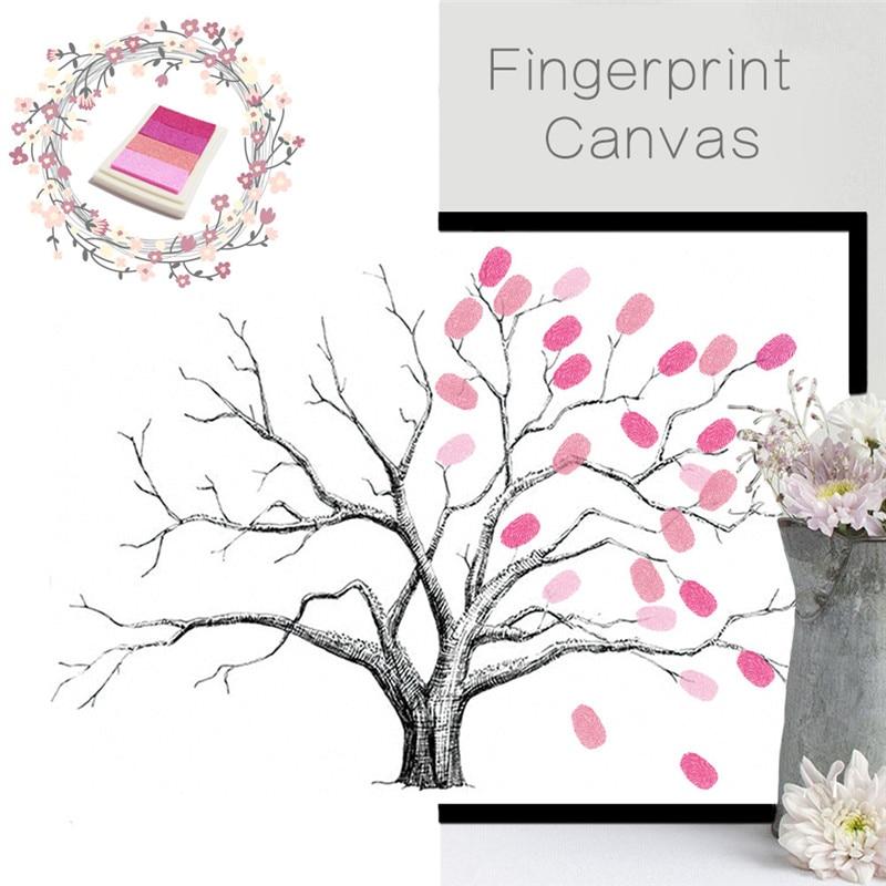 ⃝funlife Creative Fingerprint Tree Wedding Decoration Party ...
