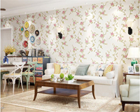 Beibehang Warm Pastoral Living Room Covered Non Woven Wall Paper 3D Three Dimensional Pressure Papel De