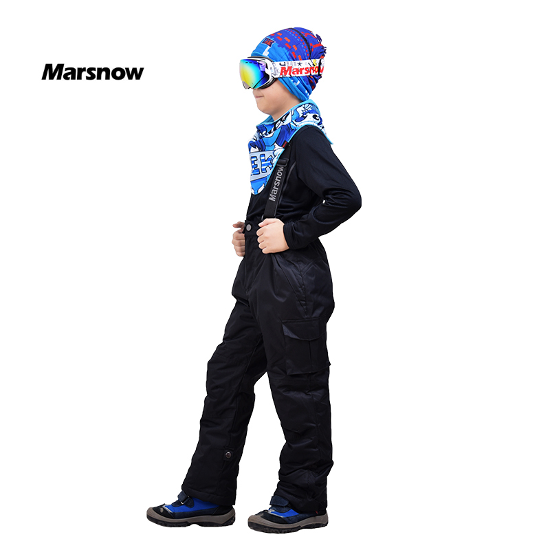 Marsnow Snowboard New Cold Winter Unisex Boys and Girls Children Warm Waterproof Windproof Ski Pants Strap Snow Trousers Pants стоимость