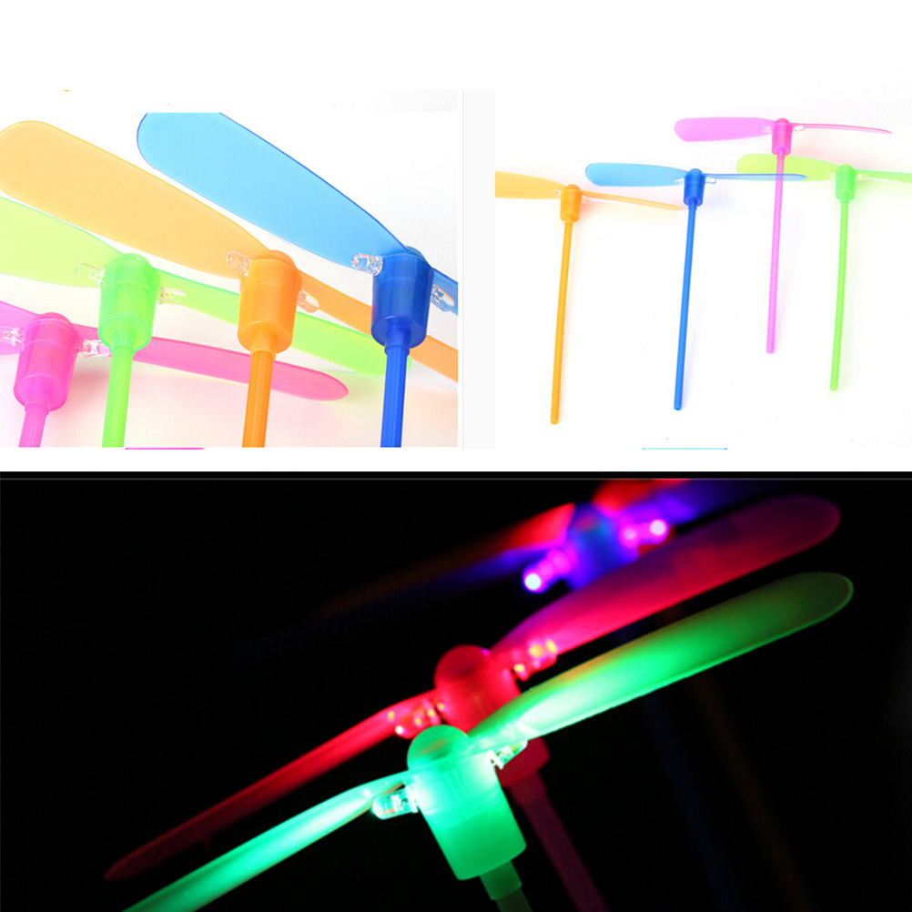 3pcs/lot Classical Toy Traditional Colorful Children Toys Gift For Kids Dragonfly Flying Led Spinning Light-up Toys