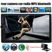 Car Radio MP5 MP4 Player Rear Camera 7 Inch 2 Din Audio Stereo FM USB TF
