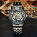 MCE Luxury Brand Mechanical Watches Men Fashion Retro stainless steel Skeleton Automatic Mechanical Wristwatch Waterproof Clock