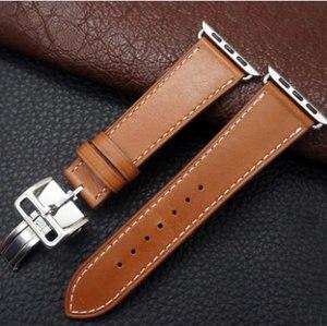 Image 3 - שעון צמיד עבור אפל שעון Seires 4 5 40 44mm אמיתי עור רצועת עבור רם אפל שעון להקה סדרת 1 2 3 iWatch Watchbands