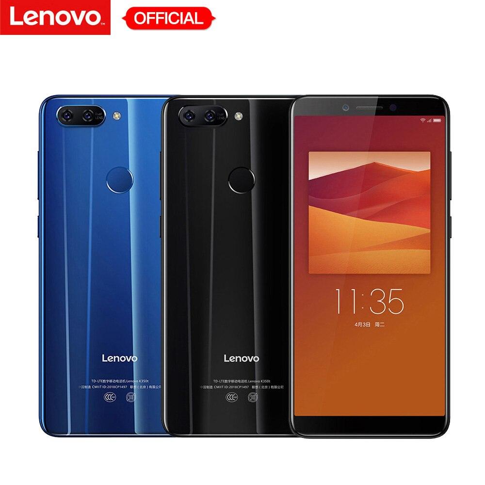 Lenovo K5 K350t Mobile Téléphone 3 gb RAM 32 gb ROM MT6750 octa-core Smartphone 5.7 ''HD + 18:9 Affichage Double Arrière Caméra 13MP 5MP