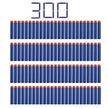 300 Pcs 7.2*1.3 Cm EVA Foam Soft Refill Bullet Darts for Nerf N-strike Elite Series Blasters Kid Toy Gun Parts Play Game