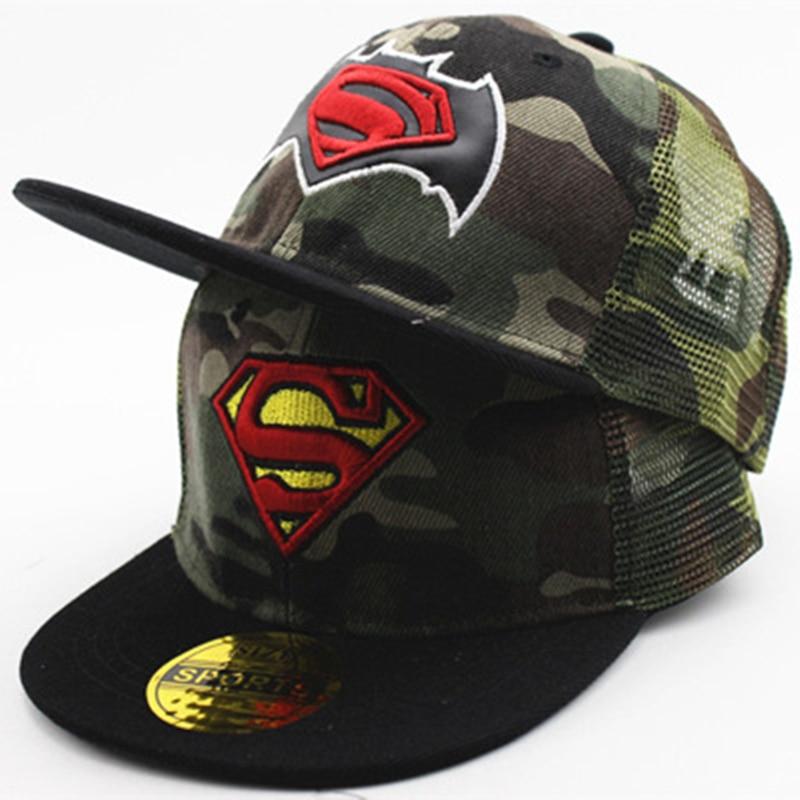 f5edf03829bdd1 Detail Feedback Questions about Batman Captain America Spiderman Lightning  Camouflage Baseball Cap For Kids Boys Girls Hip Hop Caps Camo Mesh Hat ...