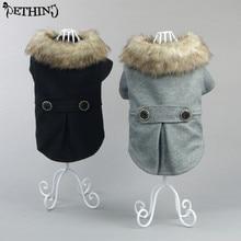New design luxury Pet dog clothes big fur coat pet Autumn winter clothing XS-3XL Woolen products