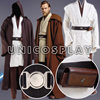 Star Wars Robe Obi Wan Kenobi Jedi Cosplay Costume Original Robes Tunic Halloween Cloak Uniform Full
