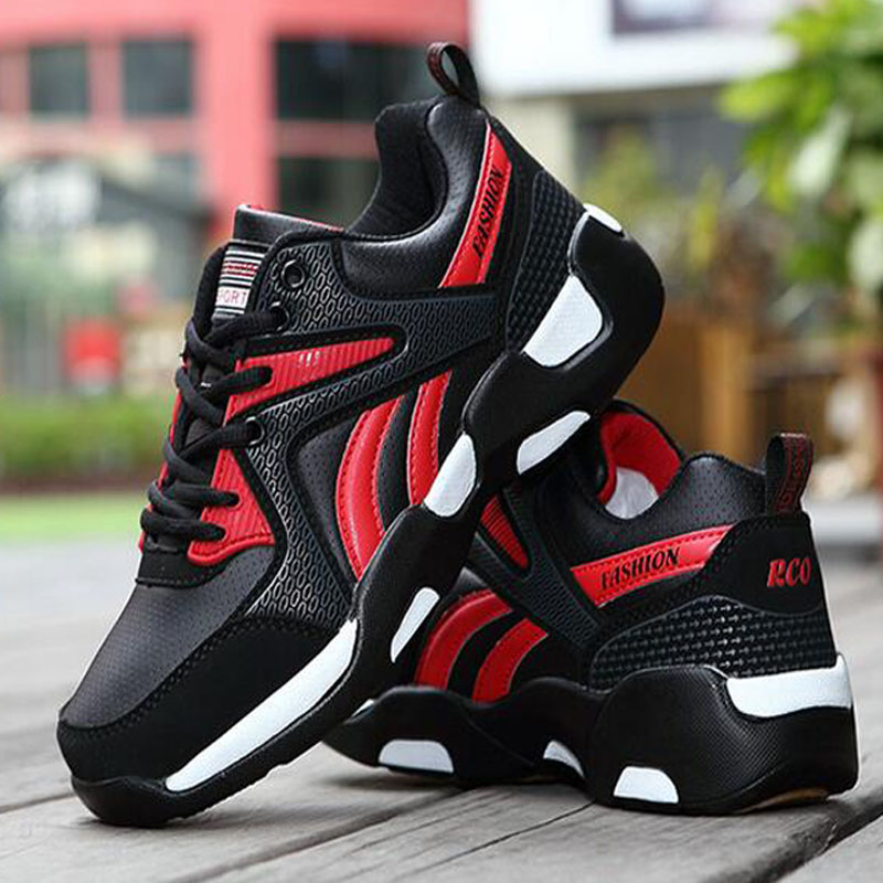 2016 Hot Air Breathable Men Running Shoes Boys Comfortable Leather Platform Sport Shoes Sneakers Outdoor Movement Big Size 39-44 2016 hot mesh breathable women running shoes comfortable platform sport shoes sneakers outdoor movement female chaussures femme