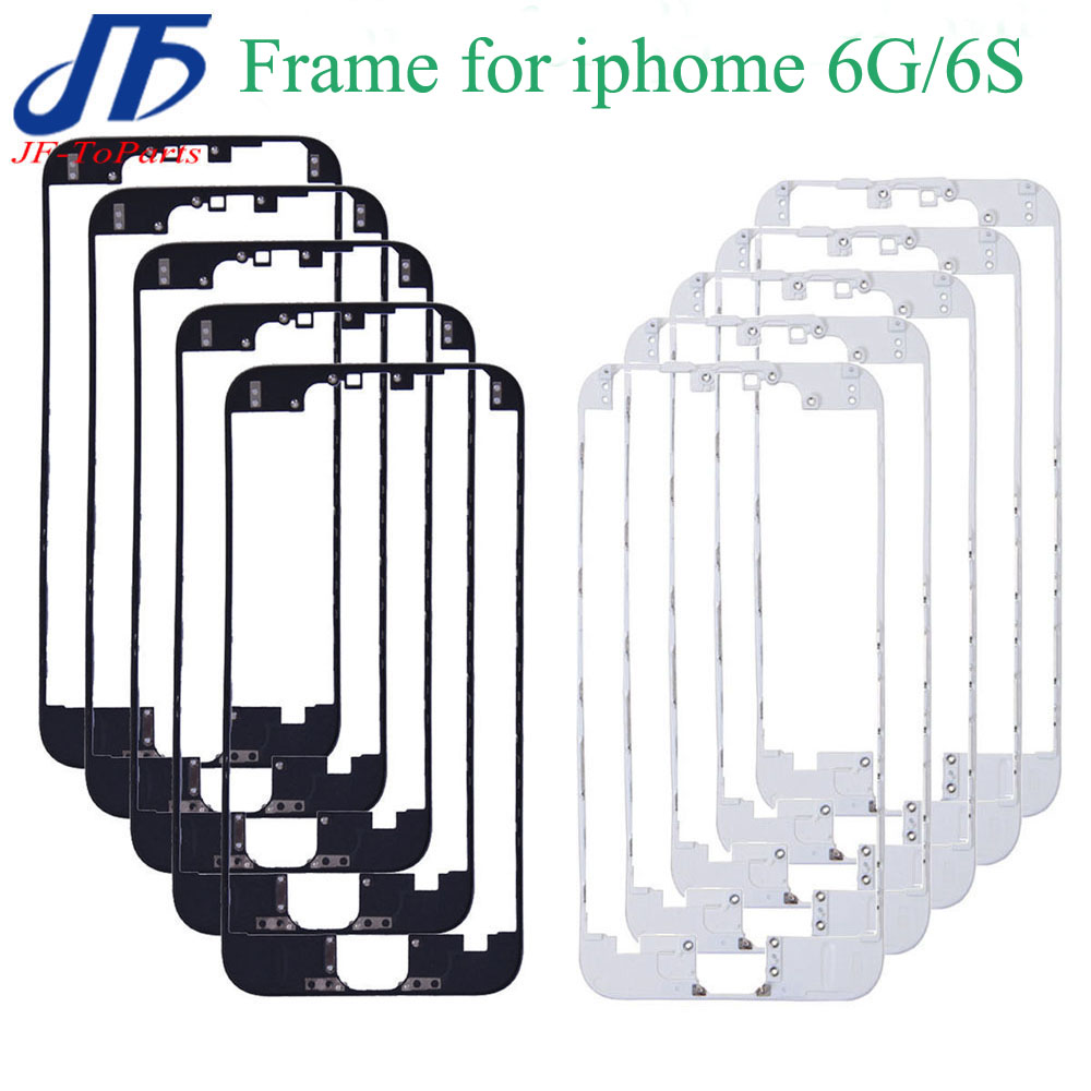 100Pcs For iPhone 6 6G 6S 4 7 inch Front Glass Lens Middle Frame Bezel Replacement