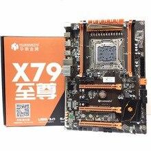 HUANANZHI Deluxe X79 LGA 2011 DDR3 PC เมนบอร์ดคอมพิวเตอร์เมนบอร์ดเหมาะสำหรับ Server RAM Desktop RAM M.2 SSD