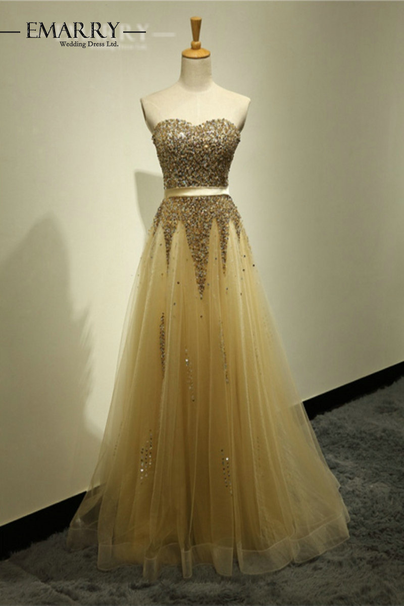 Luxury Sequined Beaded A-Line Long Bridesmaid Dresses Sexy Sweetheart Sleeveless Sashes Tulle Backless Long Prom Party Dress