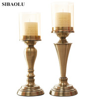 Europe Metal Candle Holder Candle Stand Wedding Event Candle Stick Metal Candelabra Candle Holders for Wedding Home Ornaments