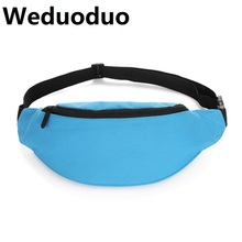 купить Weduoduo New Men Casual Waist Pack Bag Fashion Nylon Waterproof Shoulder Fanny Pack Women Belt Bag Pouch Money Phone Bum Hip Bag дешево