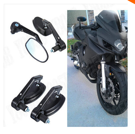 Custom Motorcycle Mirrors Handlebar Bar End Rearview For Honda Bobber Kawasaki