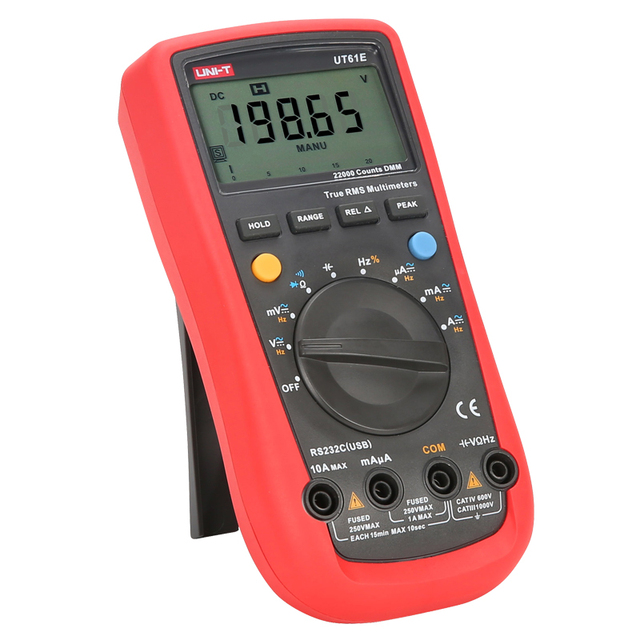 UNI-T UT61E Digital Multimeter Ture RMS Auto Range 22000 Counts PC Connect AC DC Voltage Current Meter Frequency Electric Tester 2