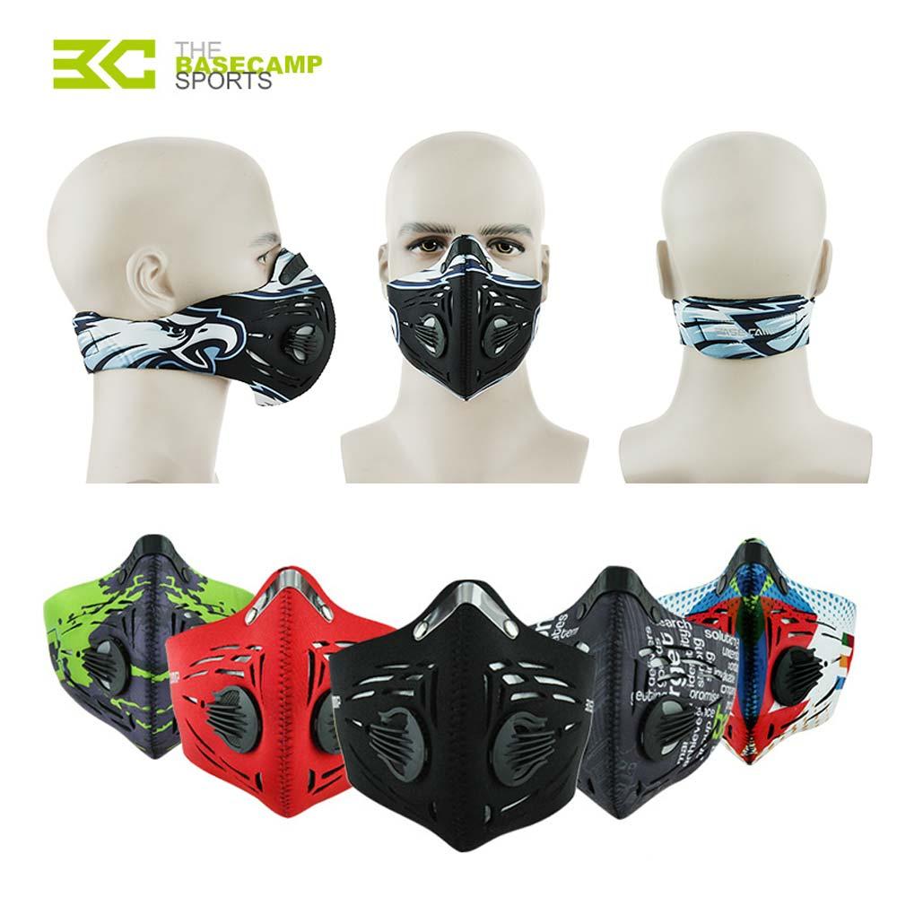 Зимняя велосипедная тренировочная маска для лица, велосипедная маска с активированным углем, дышащая полуфлисовая теплая маска для катани...