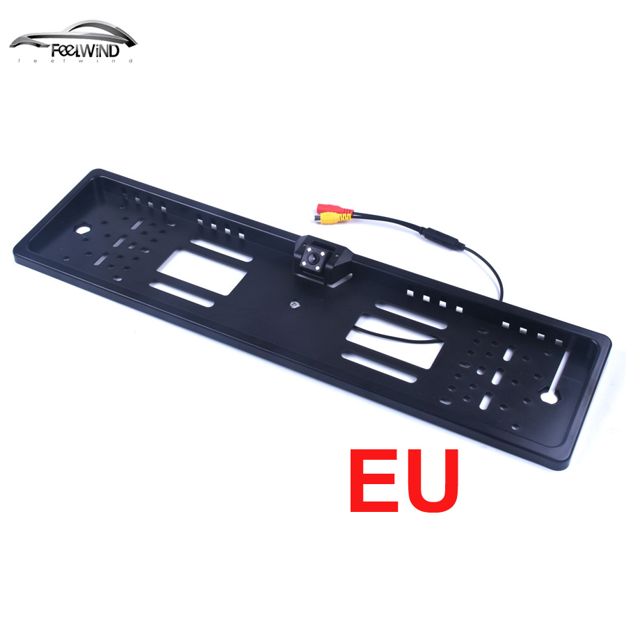 Waterproof European License Plate Frame Rear View Camera Auto Car Reverse Backup Parking Rearview Camera Night Vision 170 degree