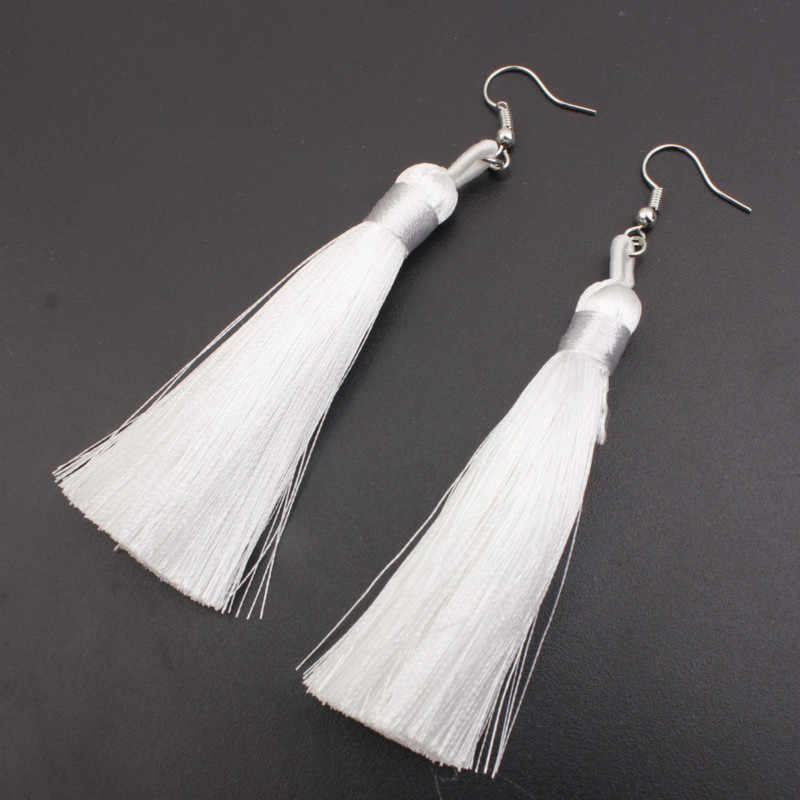 2019 new long tassel earrings bohemian multicolor earrings women's accessories gift wholesale