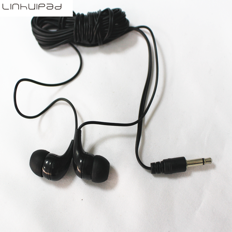3.5mm In-ear mono earbud/headphone /disposable earbuds headphones free shipping via dhl