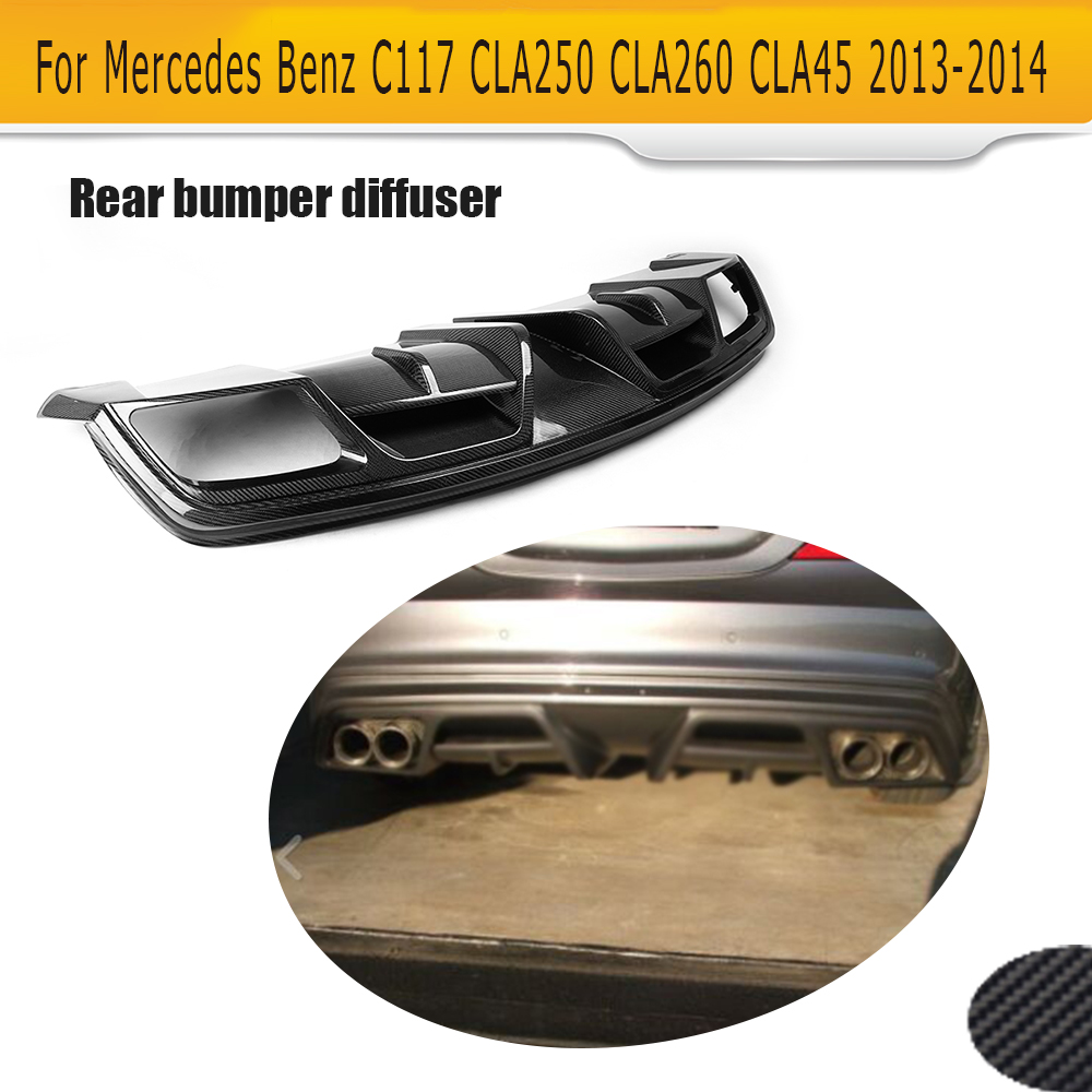Carbon Fiber Rear Bumper liP Auto Car Diffuser For Mercedes Benz W117 C117 Sedan 2013 2014 CLA45 AMG CLA250 CLA260 цена