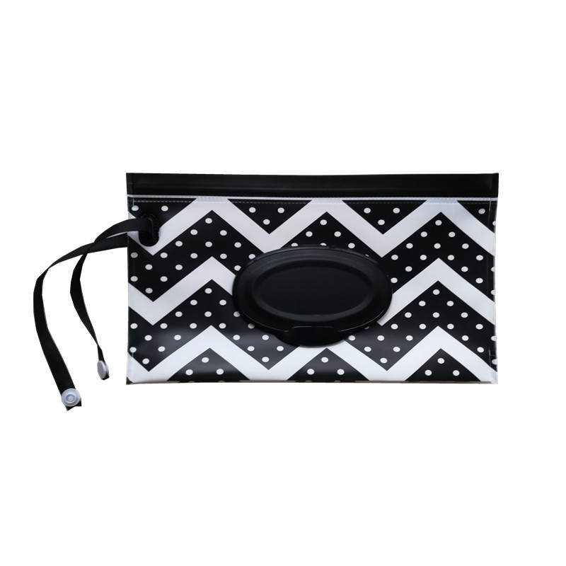Quality Stroller Carrying Case Clutch And Clean Baby Wipes Bag Clamshell Cosmetic Pouch Easy Carry Snap Strap Wipes Container
