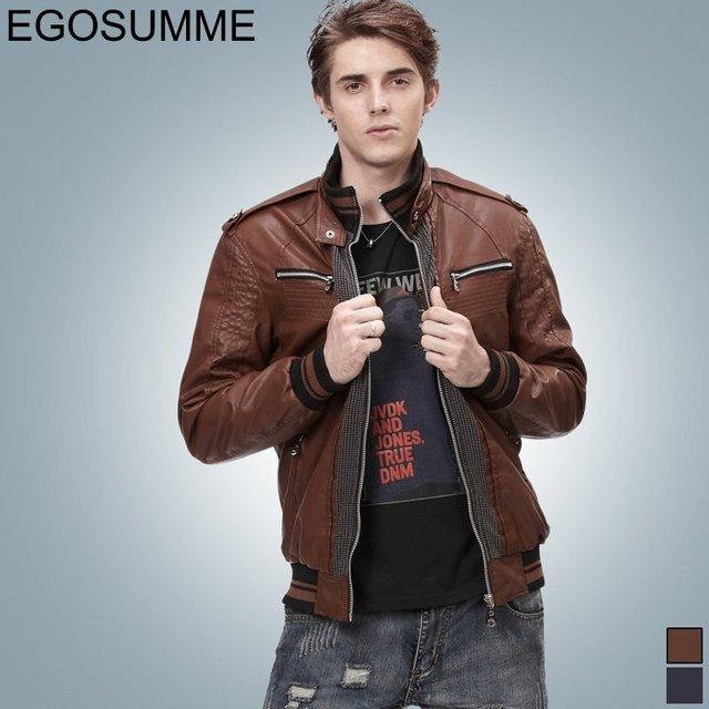2012 fashion men's pu leather jacket detachable hooded winter jackets wholesale FLM004