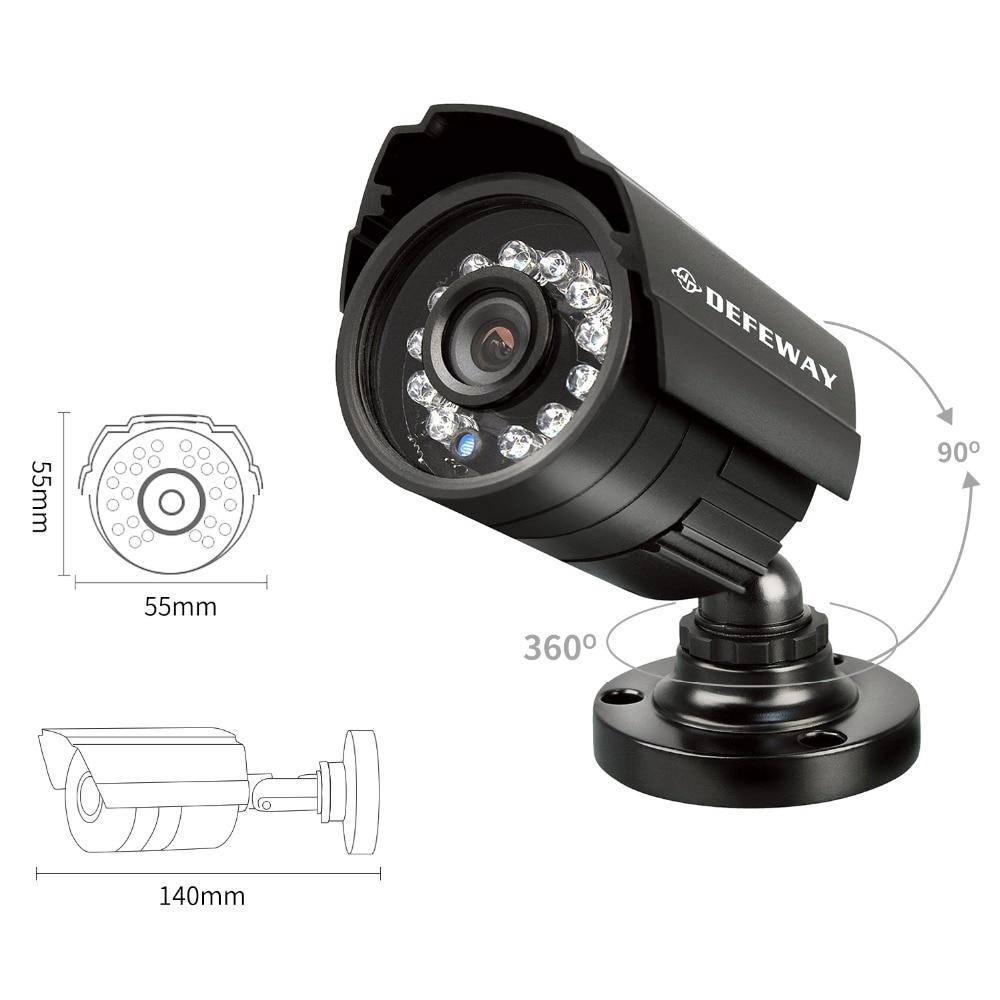 DEFEWAY 8 1200TVL 720P HD Açıq CCTV Təhlükəsizlik Kamera Sistemi - Təhlükəsizlik və qoruma - Fotoqrafiya 2
