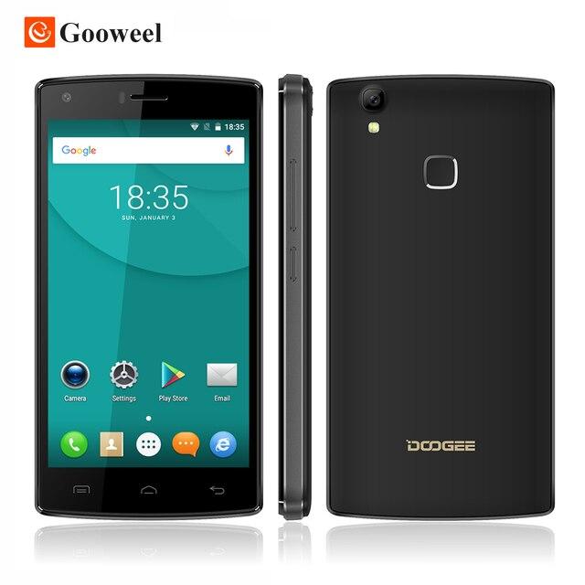 Original Doogee X5 MAX Pro 5.0 дюймов HD 4 Г Смартфон MTK737 Quad Core Сотовый Телефон 4000 мАч Мобильного Телефона Отпечатков Пальцев ID 8MP + 8MP Cam