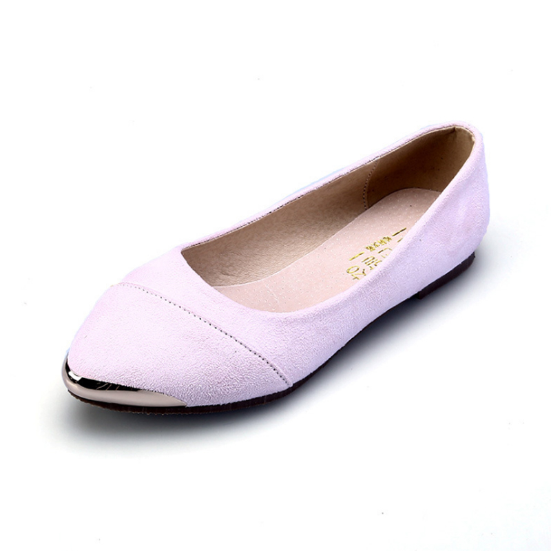 Fashion Women Spring Autumn Suede Flats Ladies Pointed Toe Shoes Classic Comfortable Loafers Slip On Flat Casual Shoes PLUS Size memunia 2017 fashion flock spring autumn single shoes women flats shoes solid pointed toe college style big size 34 47