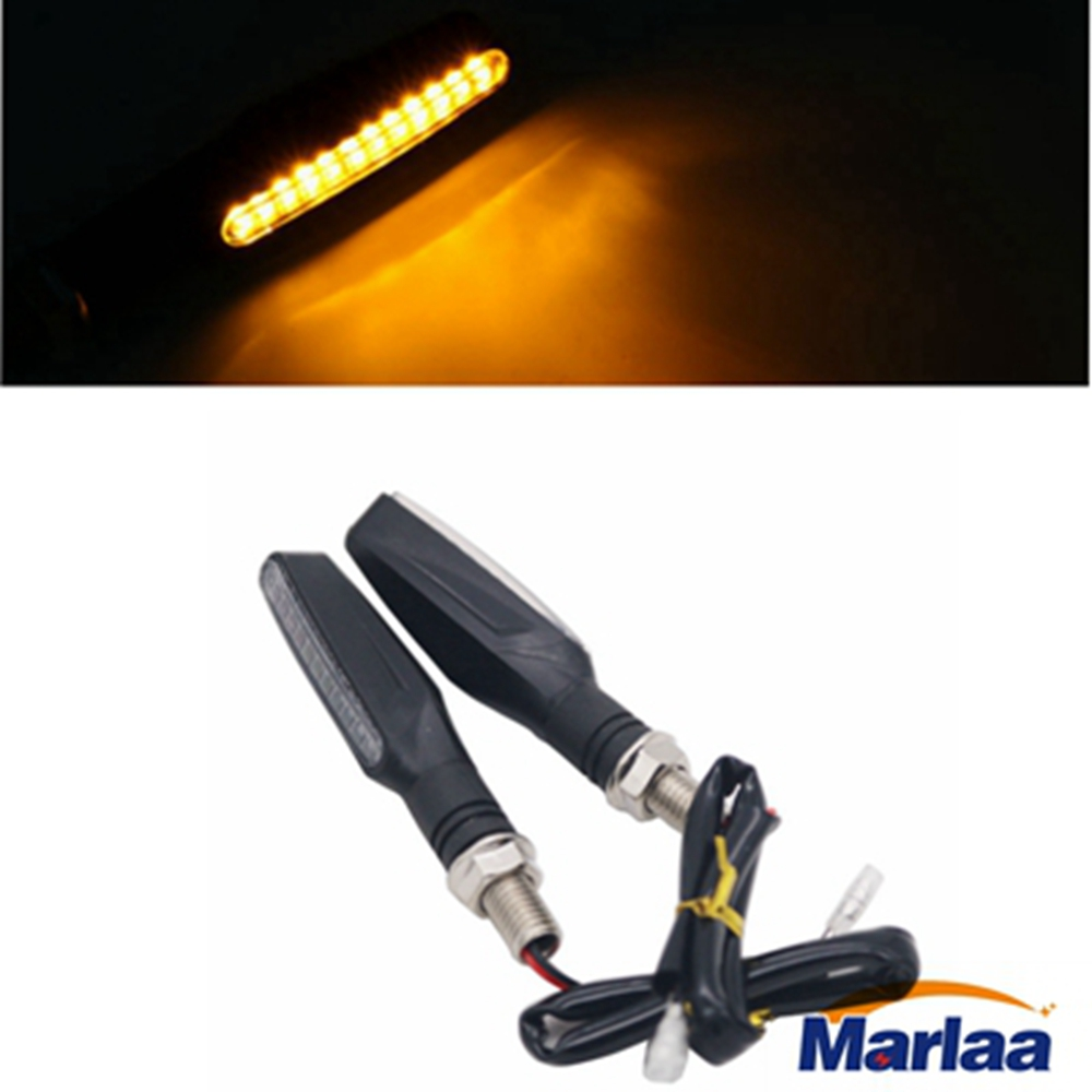 Marlaa 2pcs 12V Universal Motorcycle Bike 12 LED Turn Signal Light Indicator Bulb For Street Bike, Cruiser/Chopper, Custom Bike