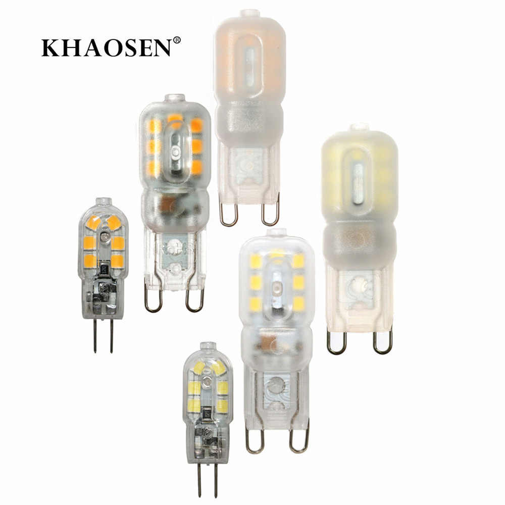 G4 G9 lampe à LED 3W Mini LED ampoule AC 220 V/230 V DC 12V SMD2835 ampoule lumière projecteur lustre éclairage remplacer les lampes halogènes